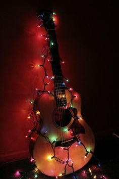 Christmas Guitar Photo